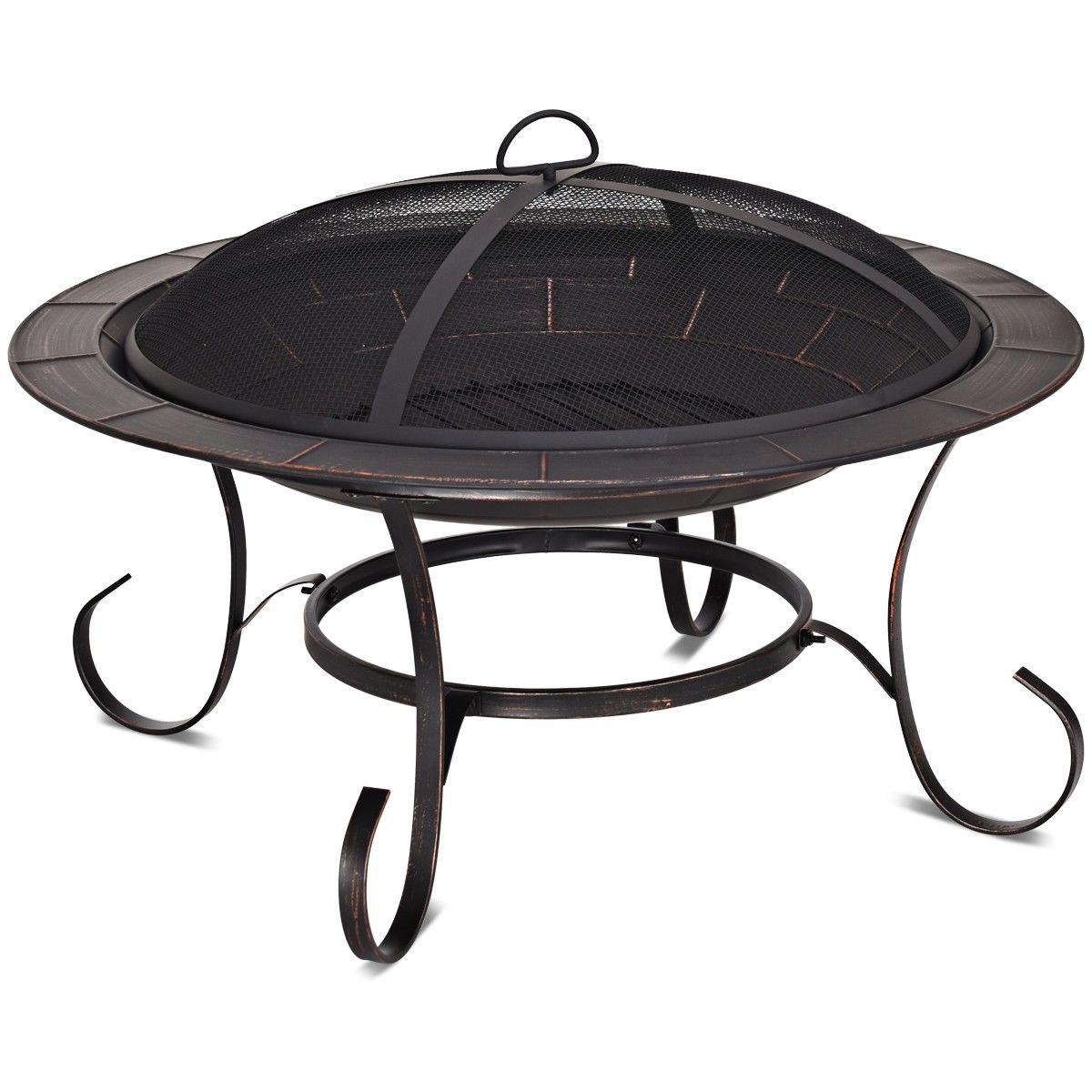 Photo of 30″ Outdoor Fire Pit BBQ Camping Firepit Heater