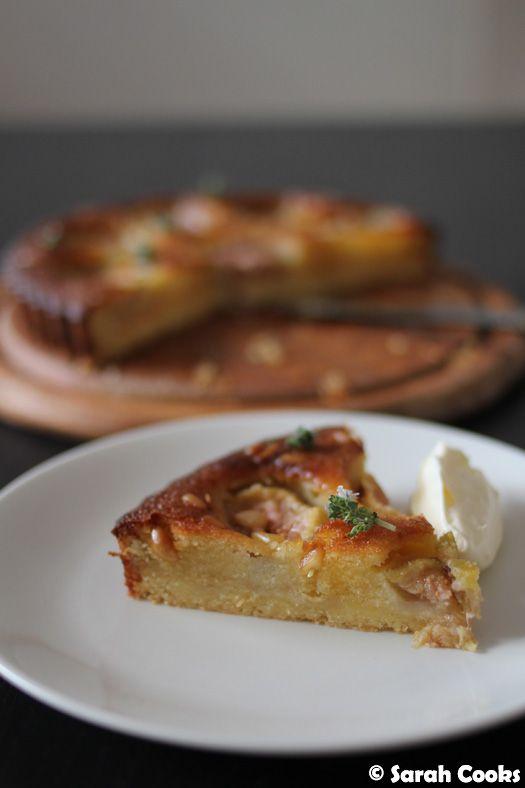 Fig, Almond and Pine Nut Tart ~ Sarah Cooks #figs #almond #tart
