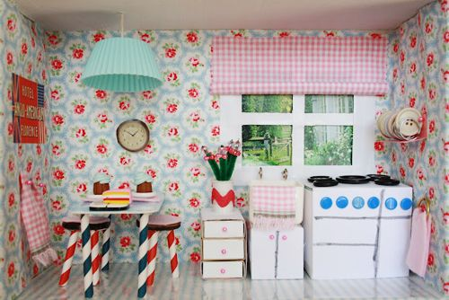 Miniature Children S Bedroom Room Box Diorama: Cath Kidston Design A Shoebox Room Competition
