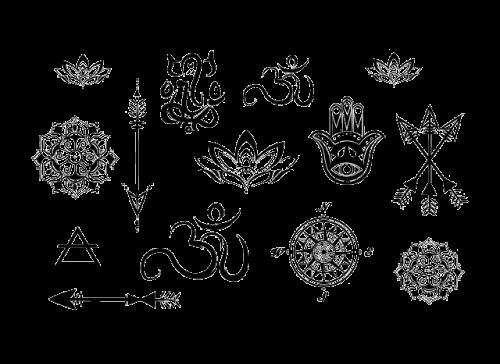 myTaT - Yoga Minis Temporary Tattoo Set
