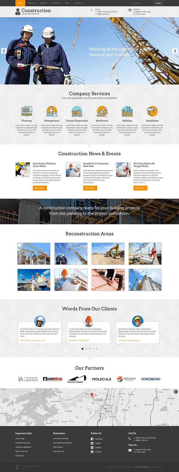 Construction Template | Civil Engineering | Construction website