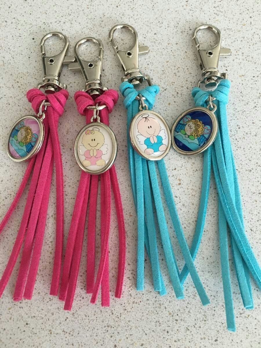 Multicolor HandCrafted Keychains party Favors For Baptism//Baby shower for Boy