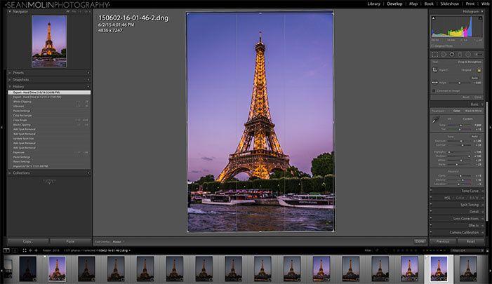 Lightroom photography software