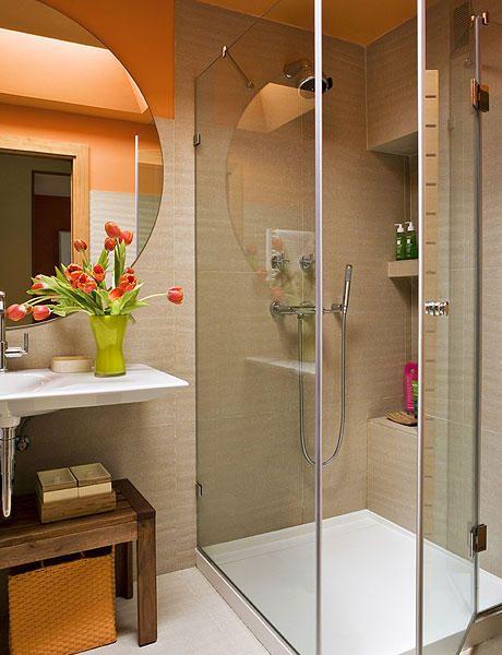 espacio pequeño, baño pequeño DECORACION DE CASAS Pinterest - decoracion de espacios pequeos
