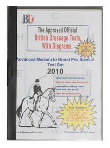 British Dressage Test Sheets Advanced Medium to GP