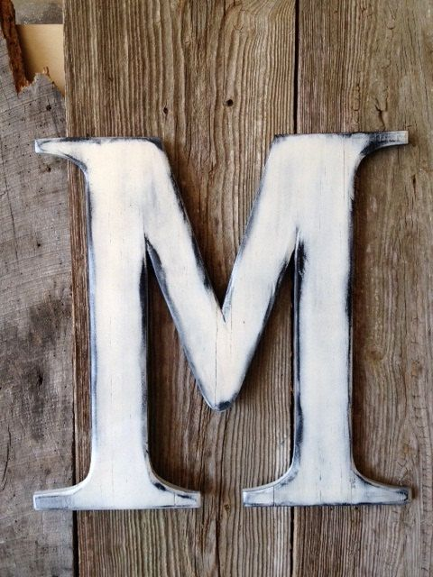 wedding wooden letter m door hanger by rkdragonfly on etsy 4495