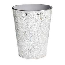 White Bathroom Bin wilko silver mosaic waste bin | storage and organisation