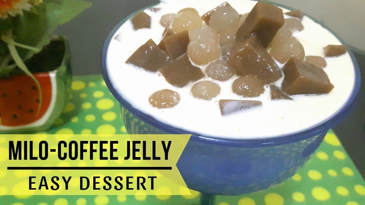 How to Make Creamy Coffee Jelly (with Sago & Milo