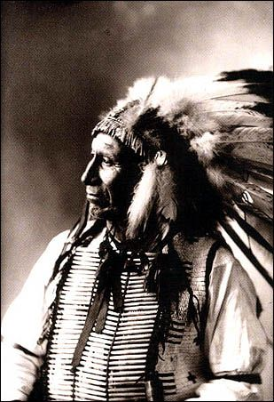 American Indians : Chief American Horse - Oglala 1898.