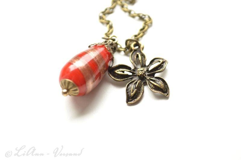 Ketten kurz - ✼ Herbstblümchen ✼ Kette - ein Designerstück von LiAnn-Versand bei DaWanda