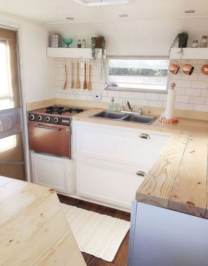 The Best DIY Remodeled Campers On a Budget Ideas No 26