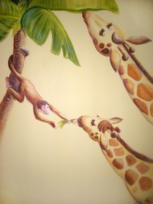 Feeding Giraffes mural idea as seen on www.findamuralist.com