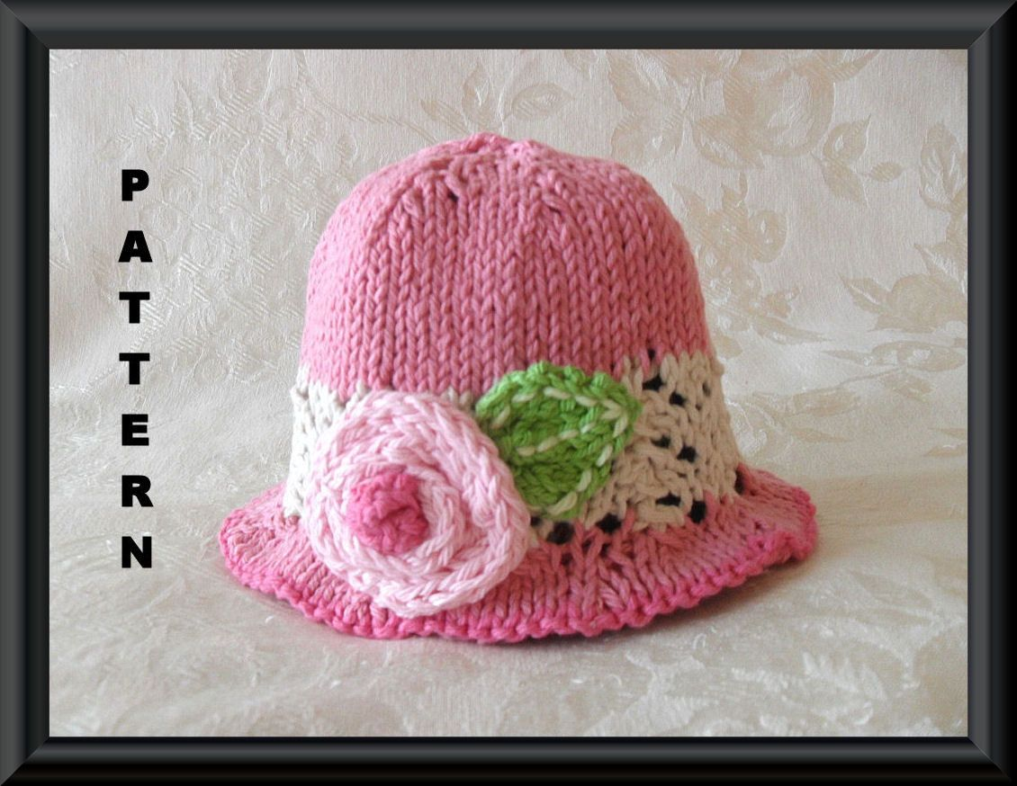 how to make a lace baby hat knit