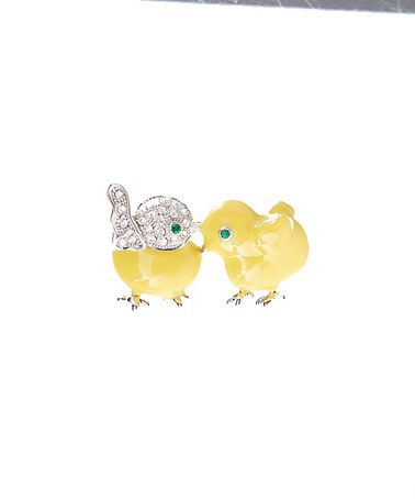 Love this Czech Crystal & Yellow Chick Brooch on #zulily! #zulilyfinds