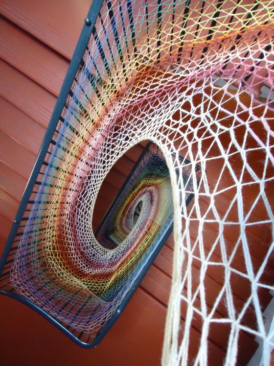 Weaving at theDovecot
