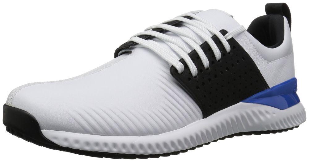 Ventilar Ahora distorsionar  adidas Men's Adicross Bounce Golf Shoe, White/Black/Blue, 12.5 M US | Adidas  men, Golf shoes, Adidas