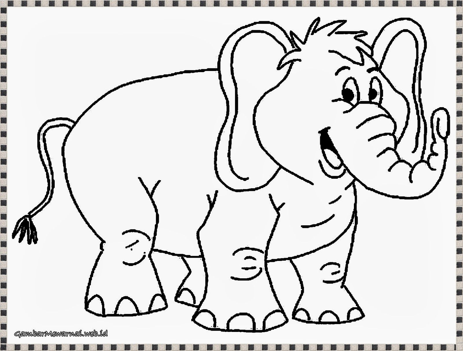 Gambar Mewarnai Gajah Halaman Mewarnai, Gambar Hewan, Gajah Afrika