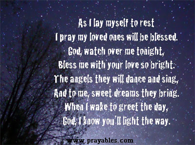 Most people remember the bedtime prayers of their
