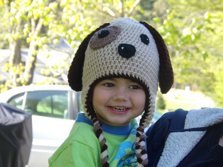 Puppy Hat - Dog Hat - Animal Hat- Crochet Puppy Hat - Baby Puppy Hat ...