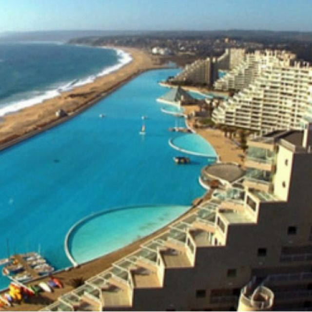 Chile resort -- world's largest saltwater pool and my happy thought
