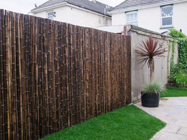 Thick Carbonised Black Bamboo Fencing Screening Roll 1 9m X 1 8m