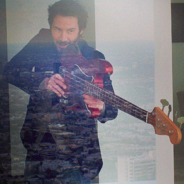 """Pshew Pshew Pshew"" You just know he's making sound effects behind that glass. I would be. :) (chicfoo) keanu"