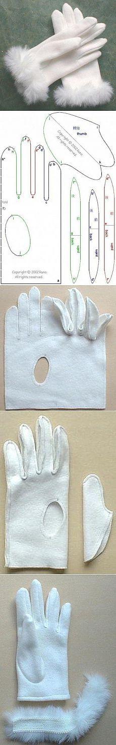 Patron para guantes | costura | Pinterest | Costura, Guantes y Patrones