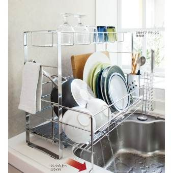 わずか約17cmの幅に置けて 洗い物の量に合わせて伸び縮み シンク横の