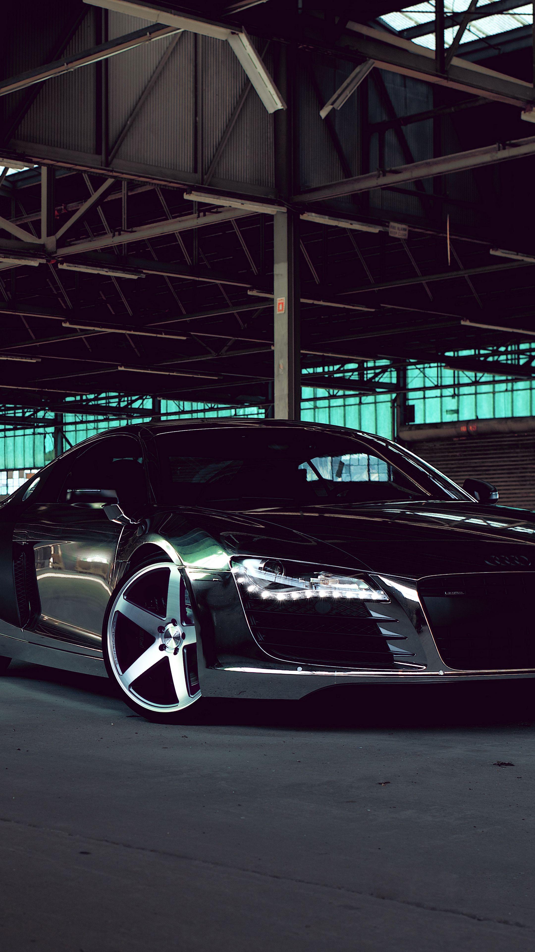 Cars Audi R8 Chrome Cw 5 Matte Black Black Side View