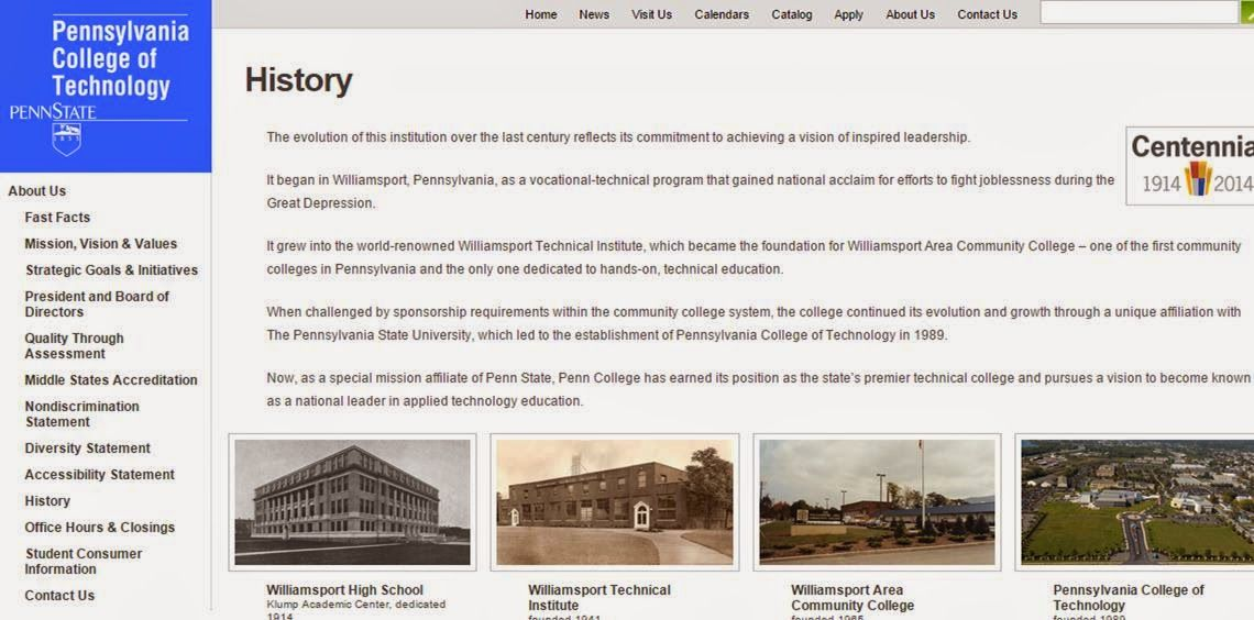 Years Of Technical Education Pennsylvania College Of