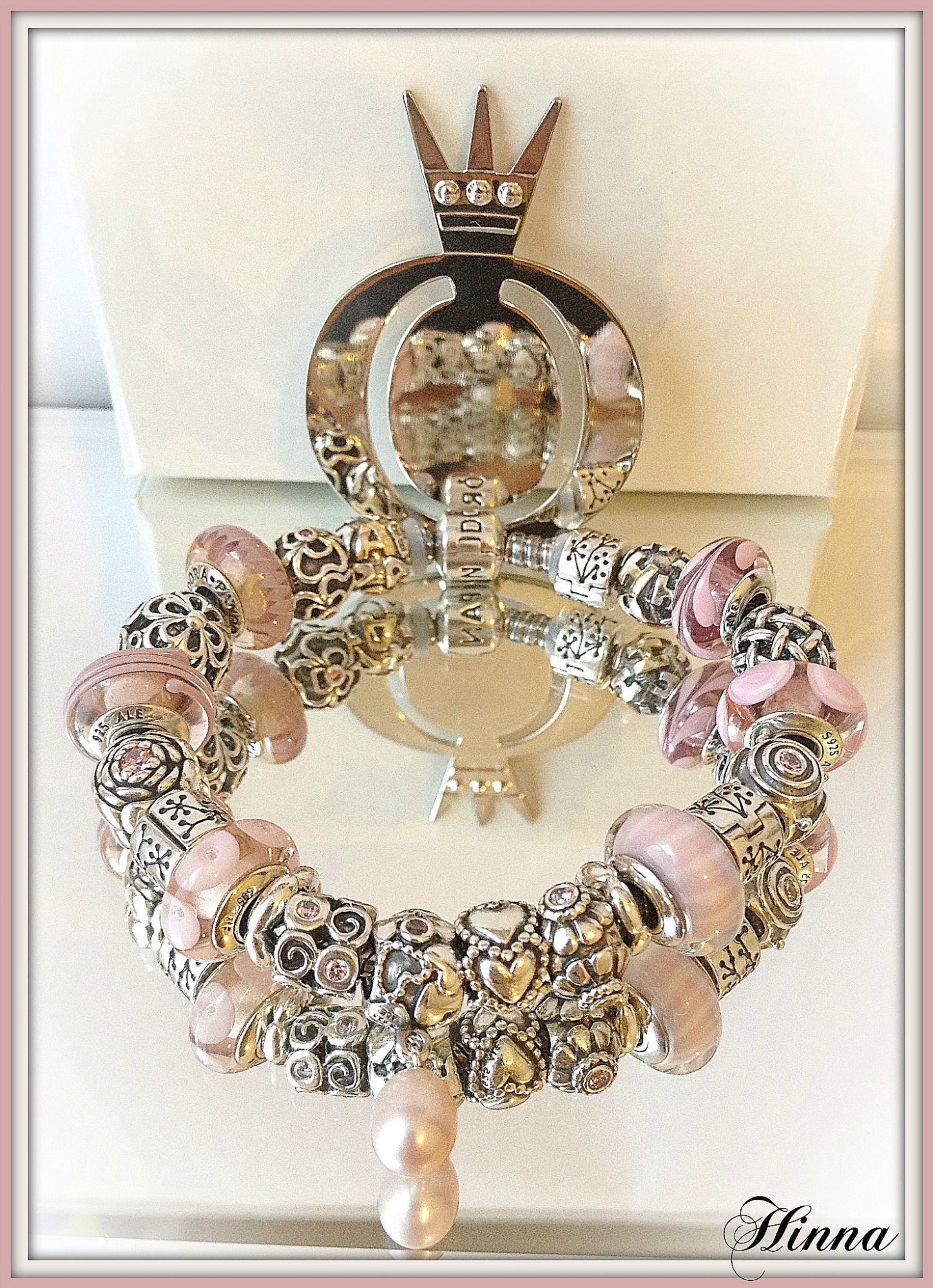 07bc94b16 A gorgeous Pandora Bracelet. Available now at Renaissance Fine Jewelry in  Brattleboro, Vermont. Call us 1-800-251-0600 to order yours today!