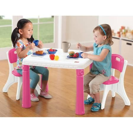 Step2 Table And Chairs Set Pink Kids Table And Chairs Table