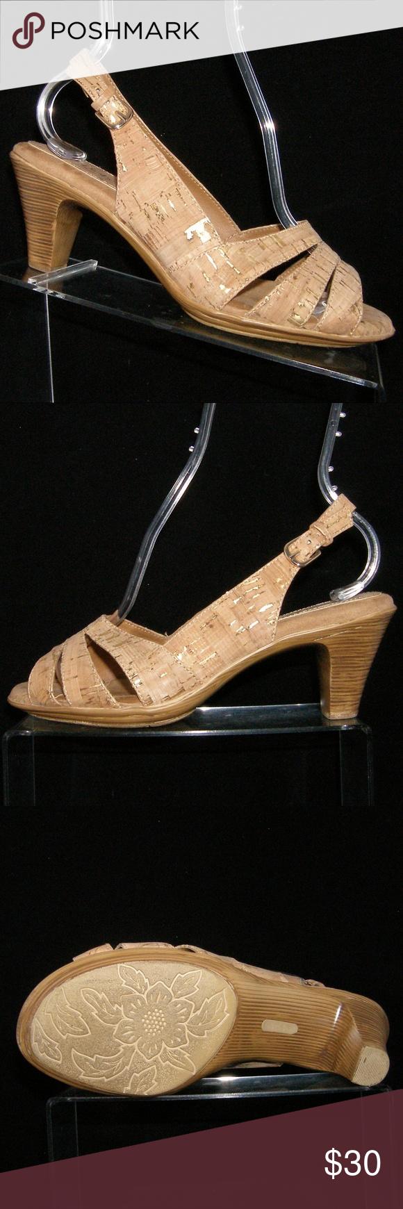 74edbd37769 Softspots Neima beige cork print slingbacks 8WW These Softspots shoes  features all man made materials