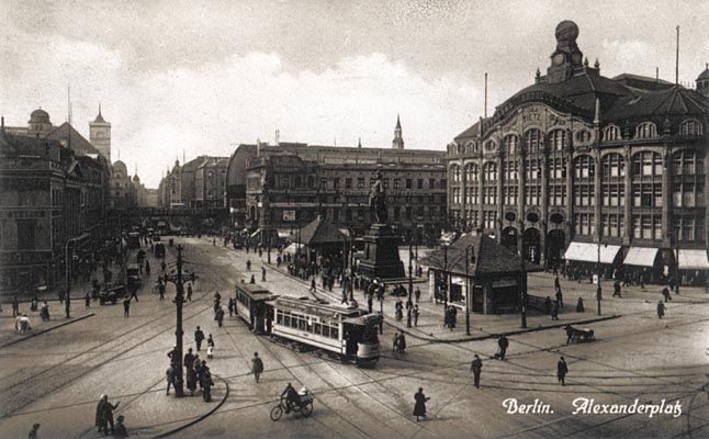 Berlin Alexanderplatz Around 1920 Berlin Weimar Allemagne