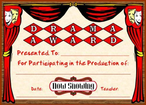 Drama award assessment strategies pinterest drama award you can find this printable award and many other awards and certificates for elementary school teachers on unique teaching resources yadclub Gallery