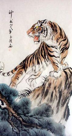 japanese tiger art google search projets essayer. Black Bedroom Furniture Sets. Home Design Ideas