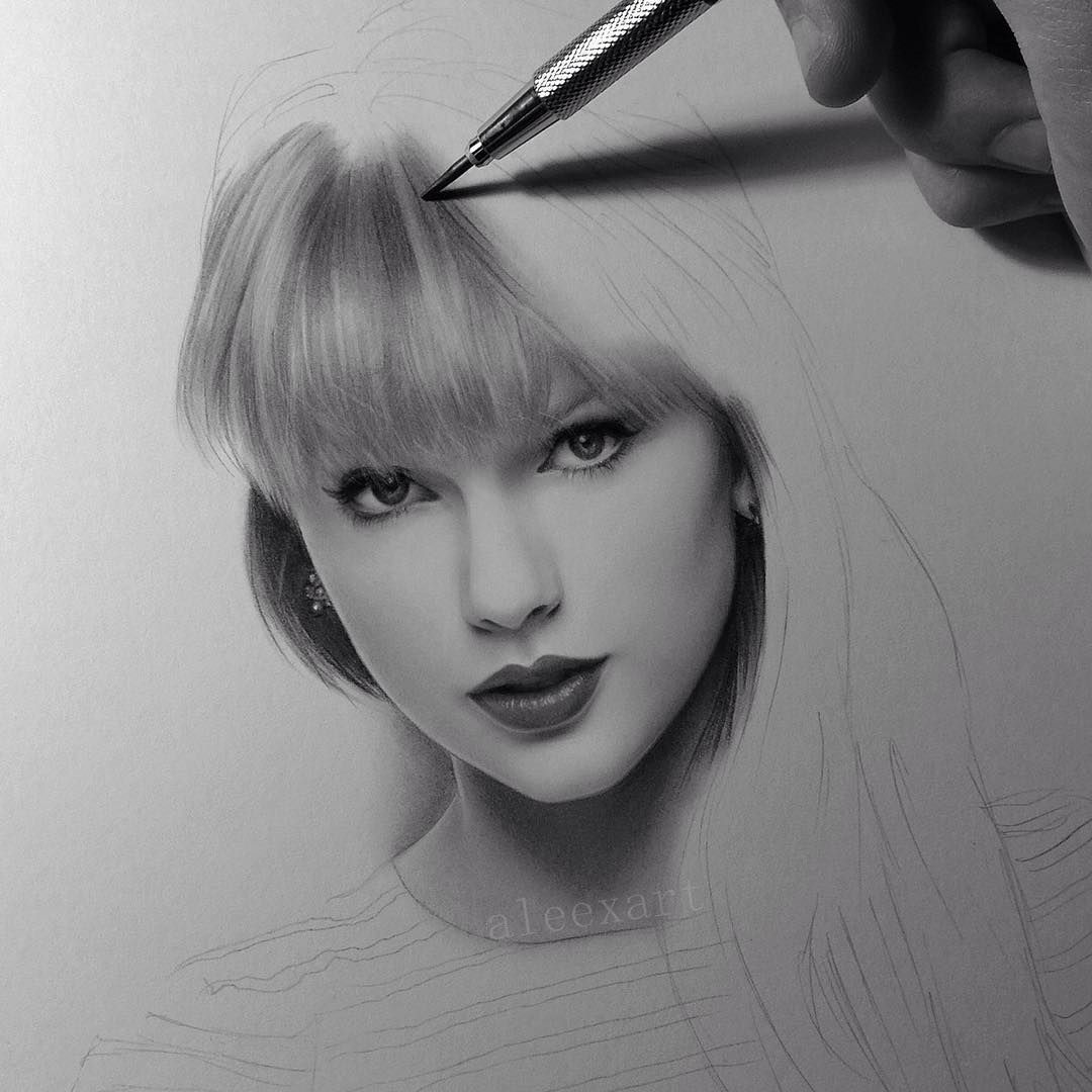 Taylor Swift In Progress Pinterest Unicornspark Pencil Art Drawings Portrait Sketches Portrait Art