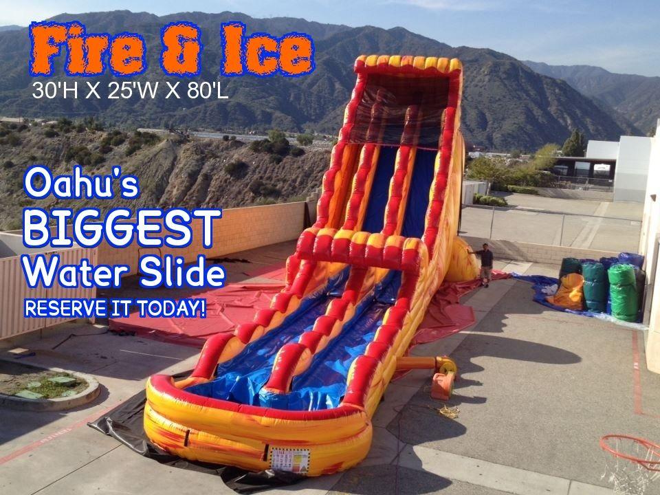 oahu bounce house rentals oahuu0027s biggest water slide oahu - Water Slide Bounce House