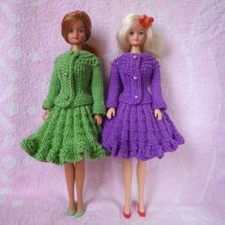 Вязание юбки для кукол крючком