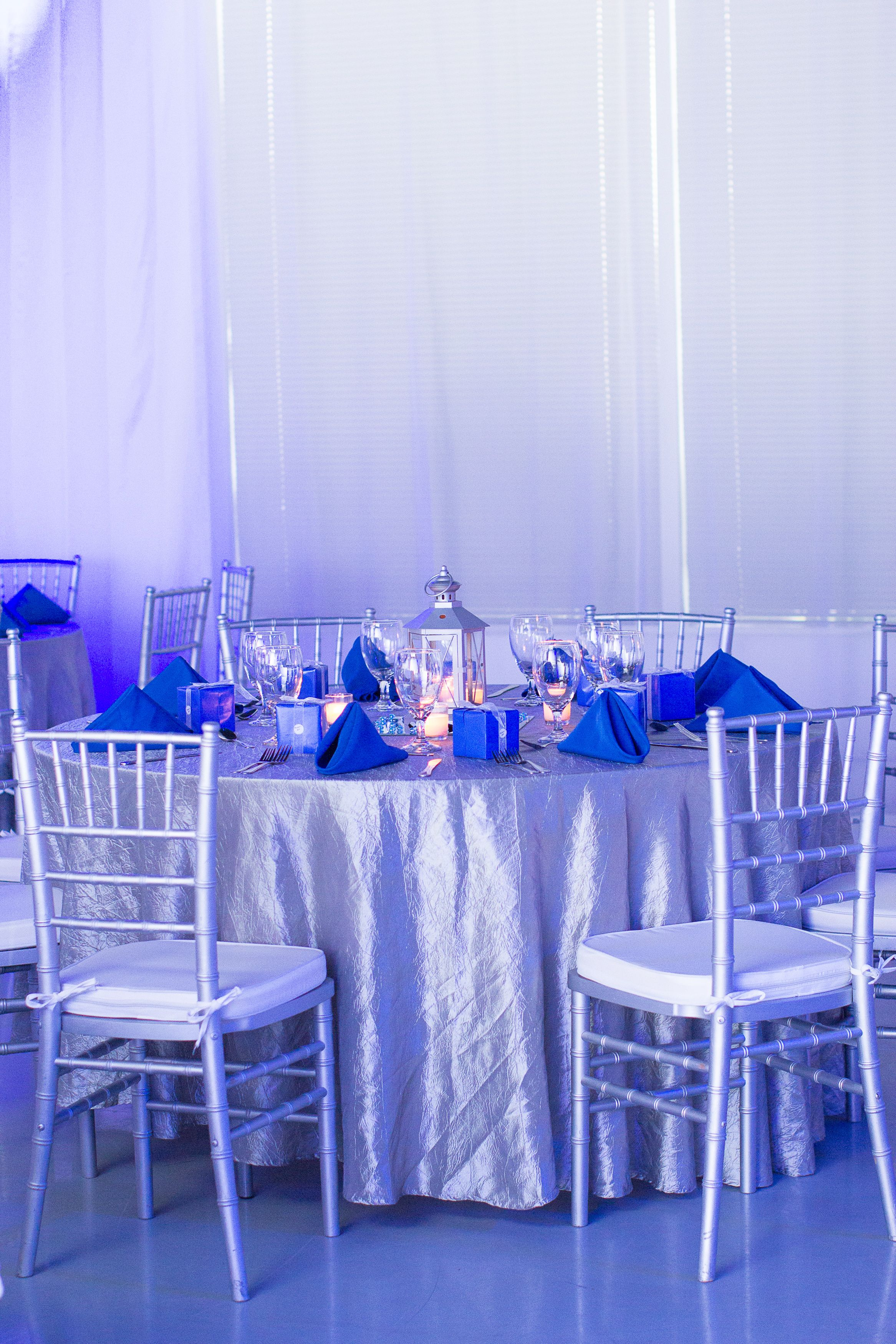 Blue Amp Silver Themed Birthday Party Heaven Event Center Silver Party Decorations 70th