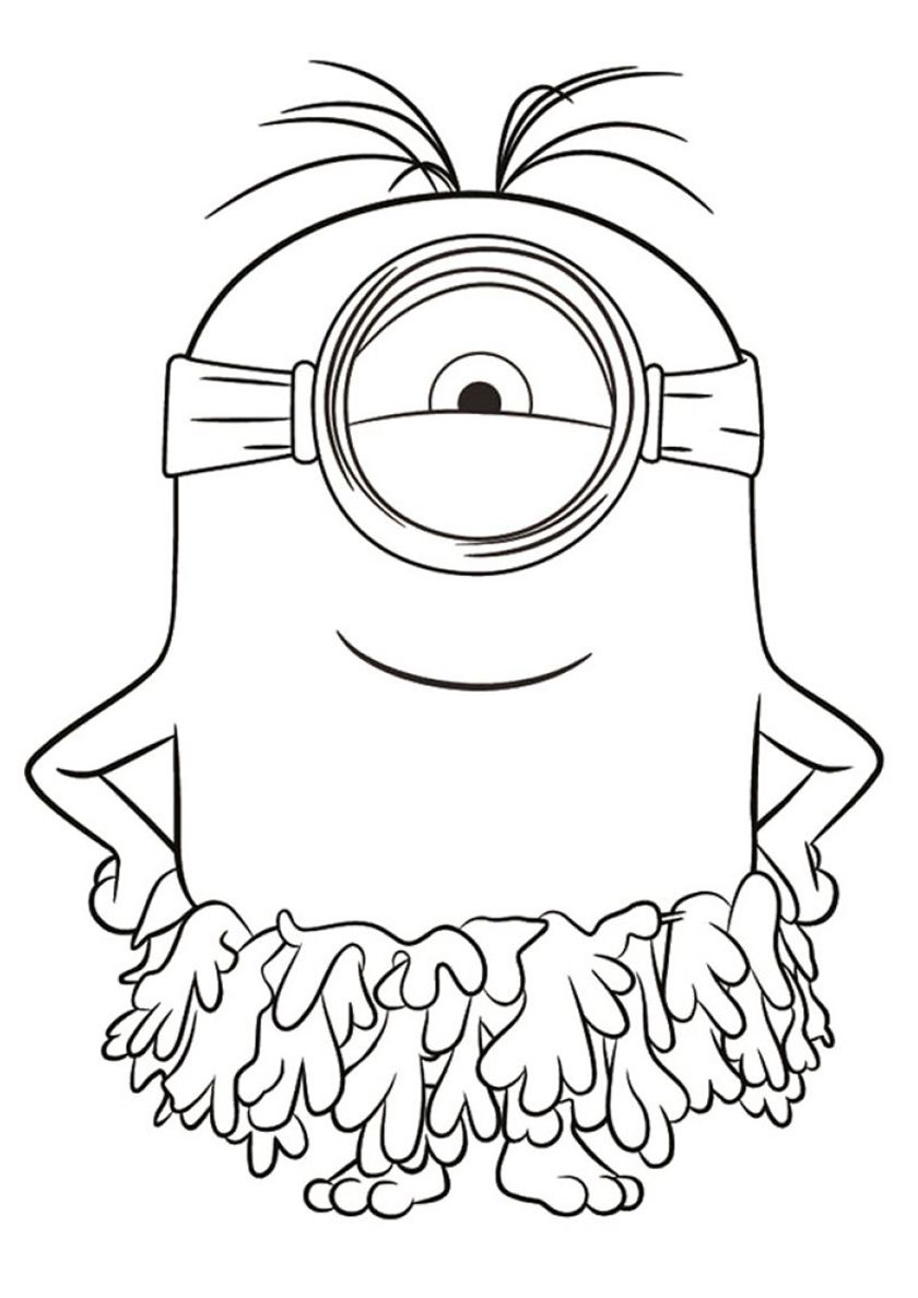 Stuart On The Beach In 2020 Cartoon Coloring Pages Minions