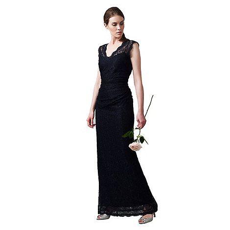 Phase Eight Navy Savannah Lace Full Length Dress-   Debenhams ...