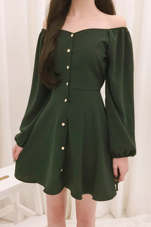 ROMANTIC MUSETie-Waist Flared Mini Dress   mixxmix