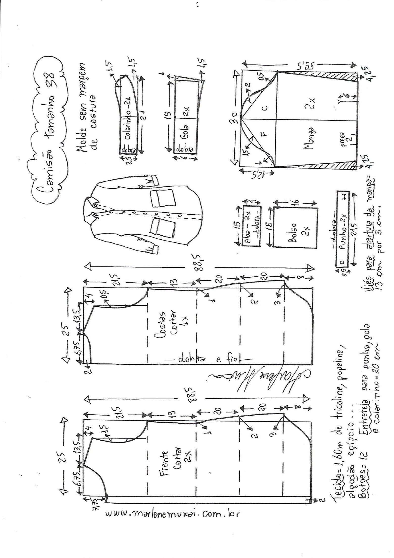 Camisão chemise - DIY - molde 9eae94759c446