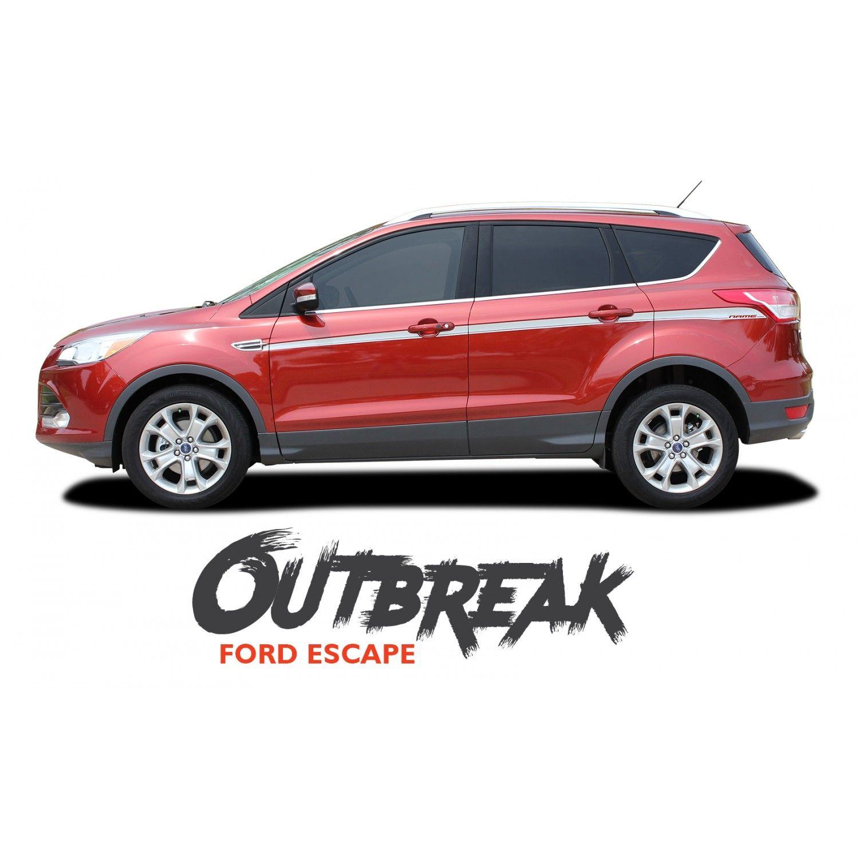 Ford Escape Outbreak Body Line Vinyl Graphics Decal Stripe Kit For 2013 2014 2015 2016 2017 2018 2019 Stripe Kit Ford Escape Vinyl Graphics [ 1500 x 1500 Pixel ]