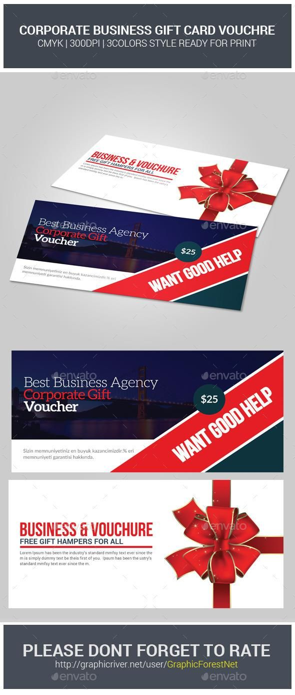 Business Gift Card Voucher Template | Template, Buy business and ...