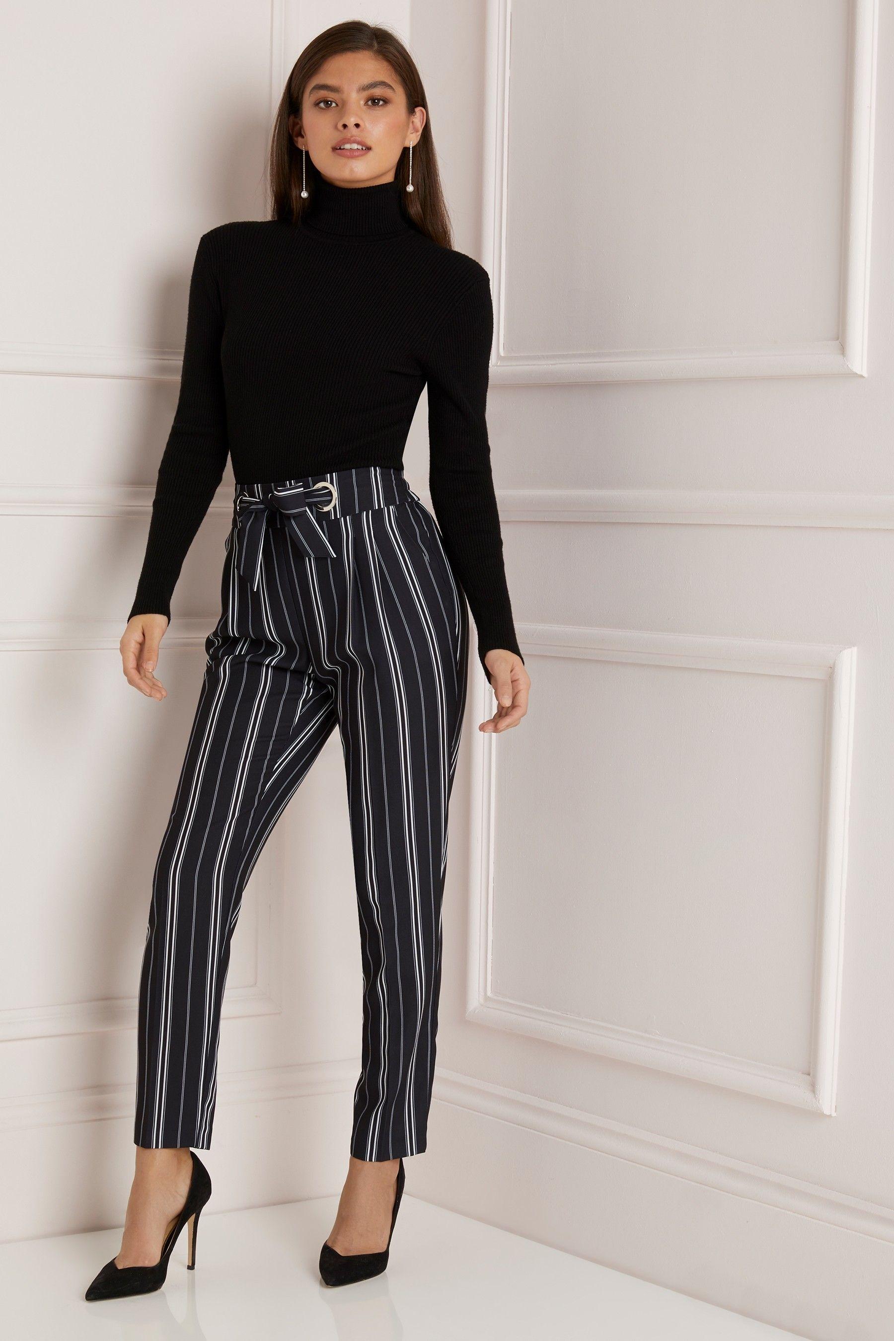bf5bd3da4da9 Womens Lipsy Tie Waist Peg Leg Trousers - Blue in 2019 | Products ...
