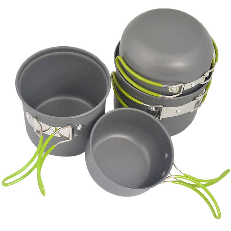 14.97$  Buy now - http://alisp7.shopchina.info/1/go.php?t=948900816 - 4pcs Outdoor Camping Hiking Cookware Backpacking Cooking Picnic Bowl Pot Pan Set  #aliexpress