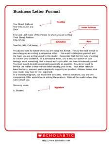 5th grade letter writing business letter format