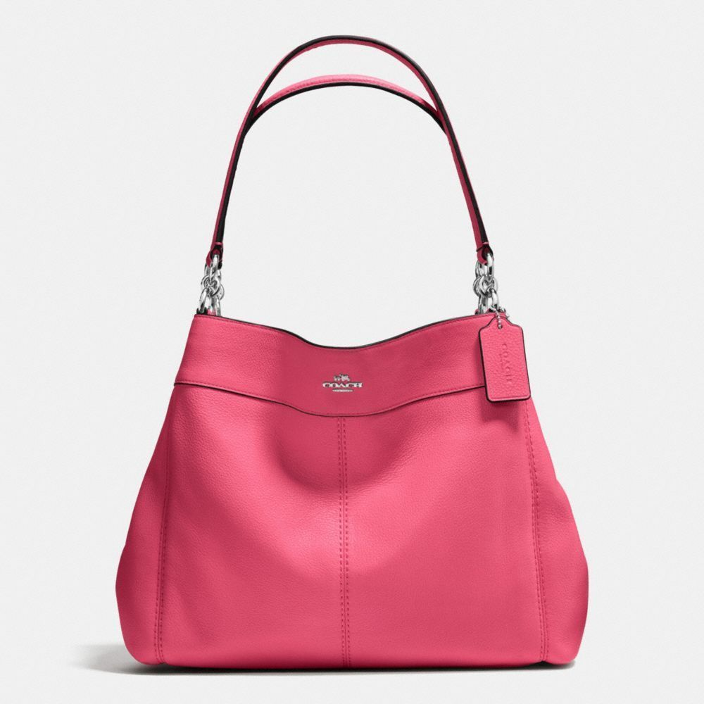 Coach Large Leather Lexy Shoulder Bag Tote Hobo Strawberry Pink  Coach   ShoulderBag 9e04e20dedb82